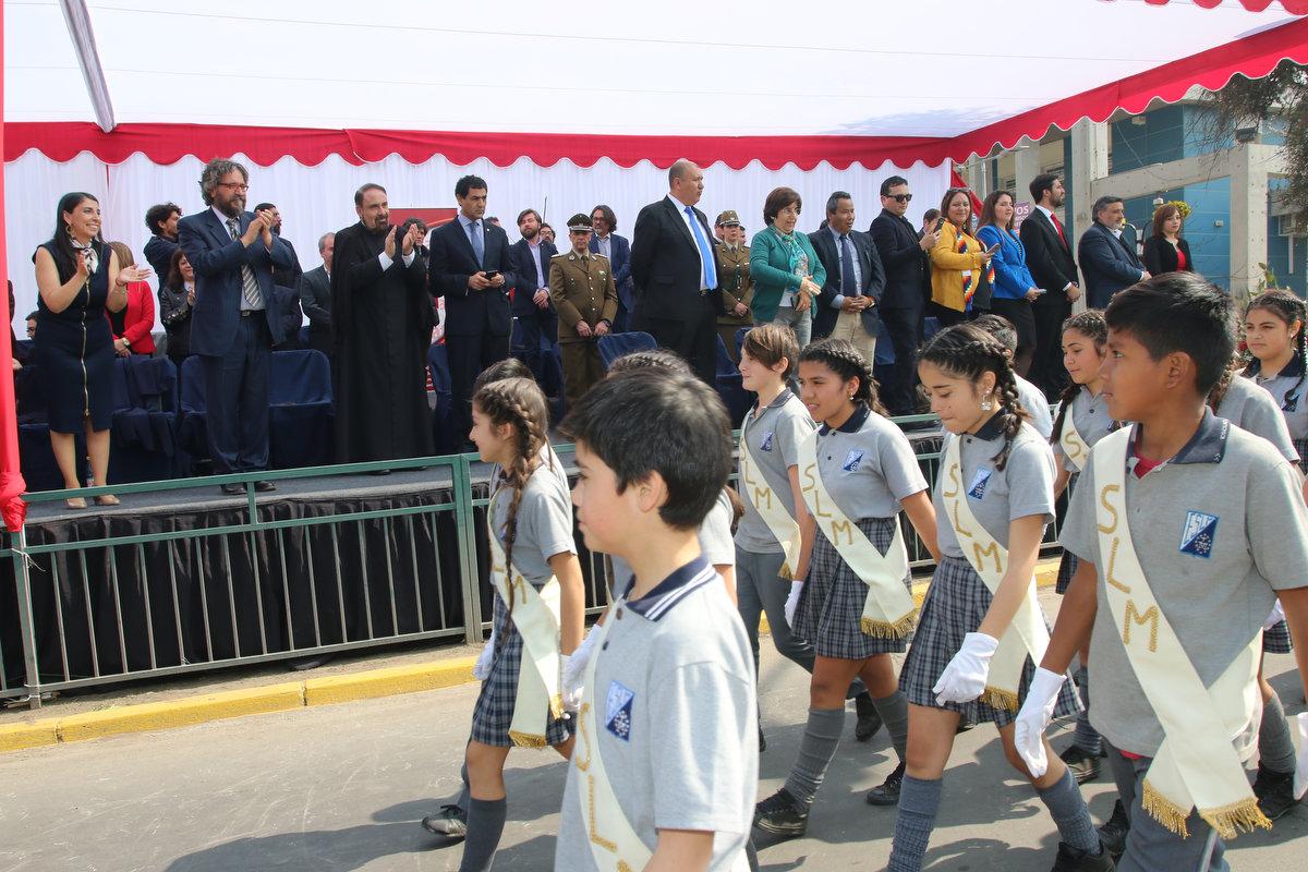 Más de dos mil vecinos participaron del desfile cívico comunal de Fiestas Patrias