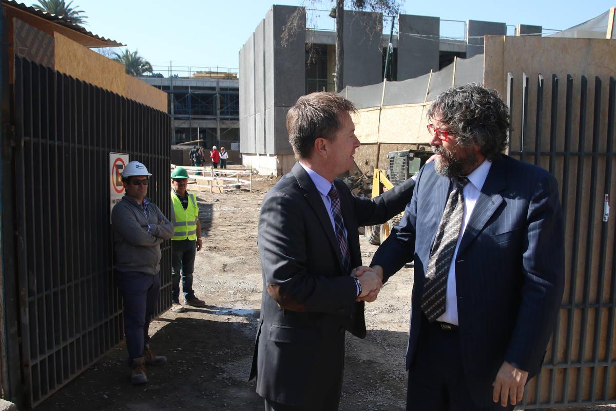 Subsecretario de Desarrollo Regional, Felipe Salaberry, visitó y destacó avances del futuro edificio consistorial