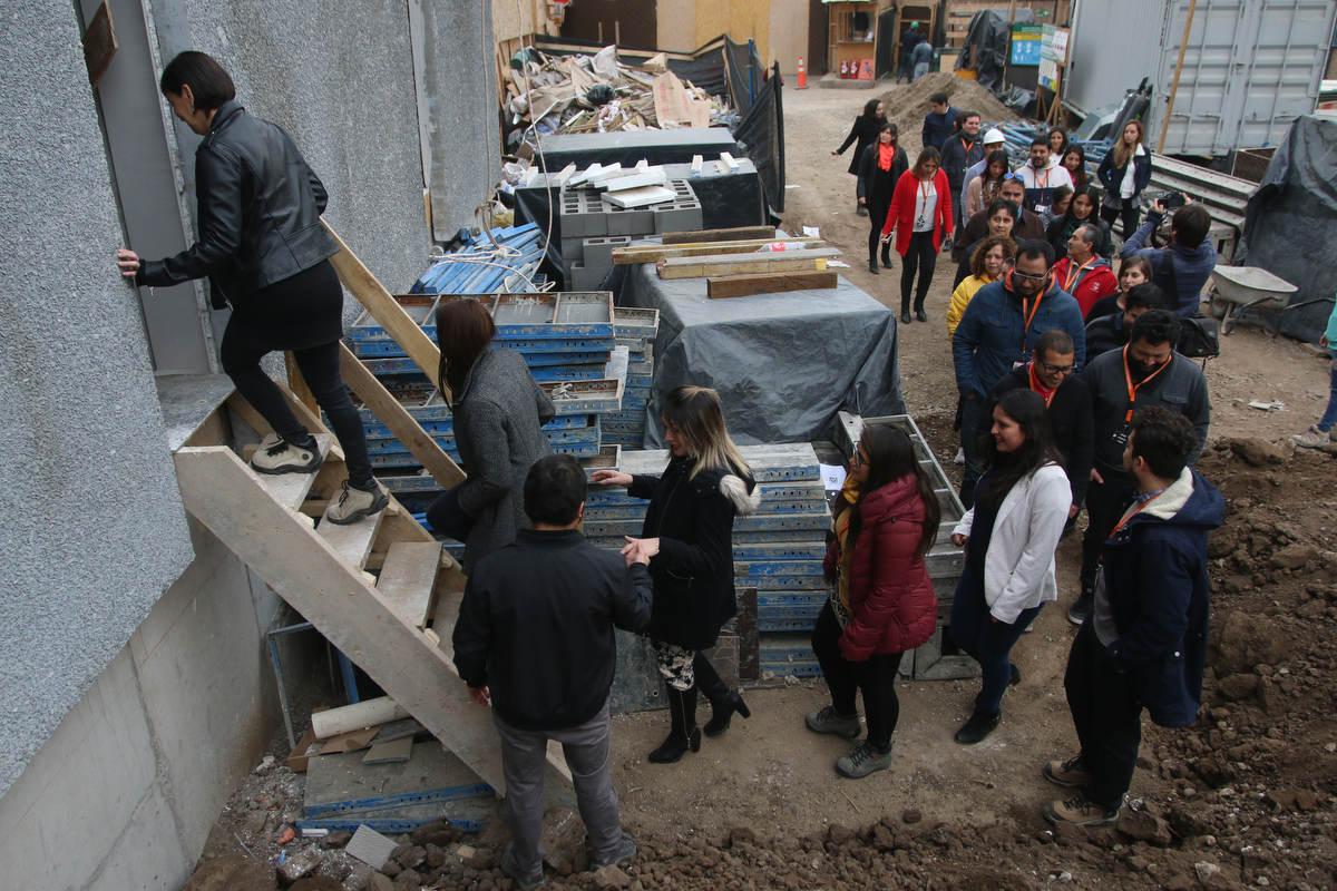 Funcionarios municipales visitaron obras del nuevo Edificio Consistorial