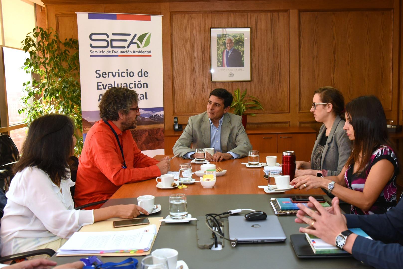 Reunión de Alcalde Carlos Cuadrado Prats con SEA