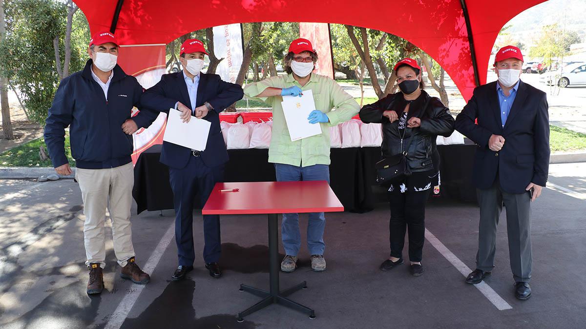Entrega de mascarillas a Municipalidad.