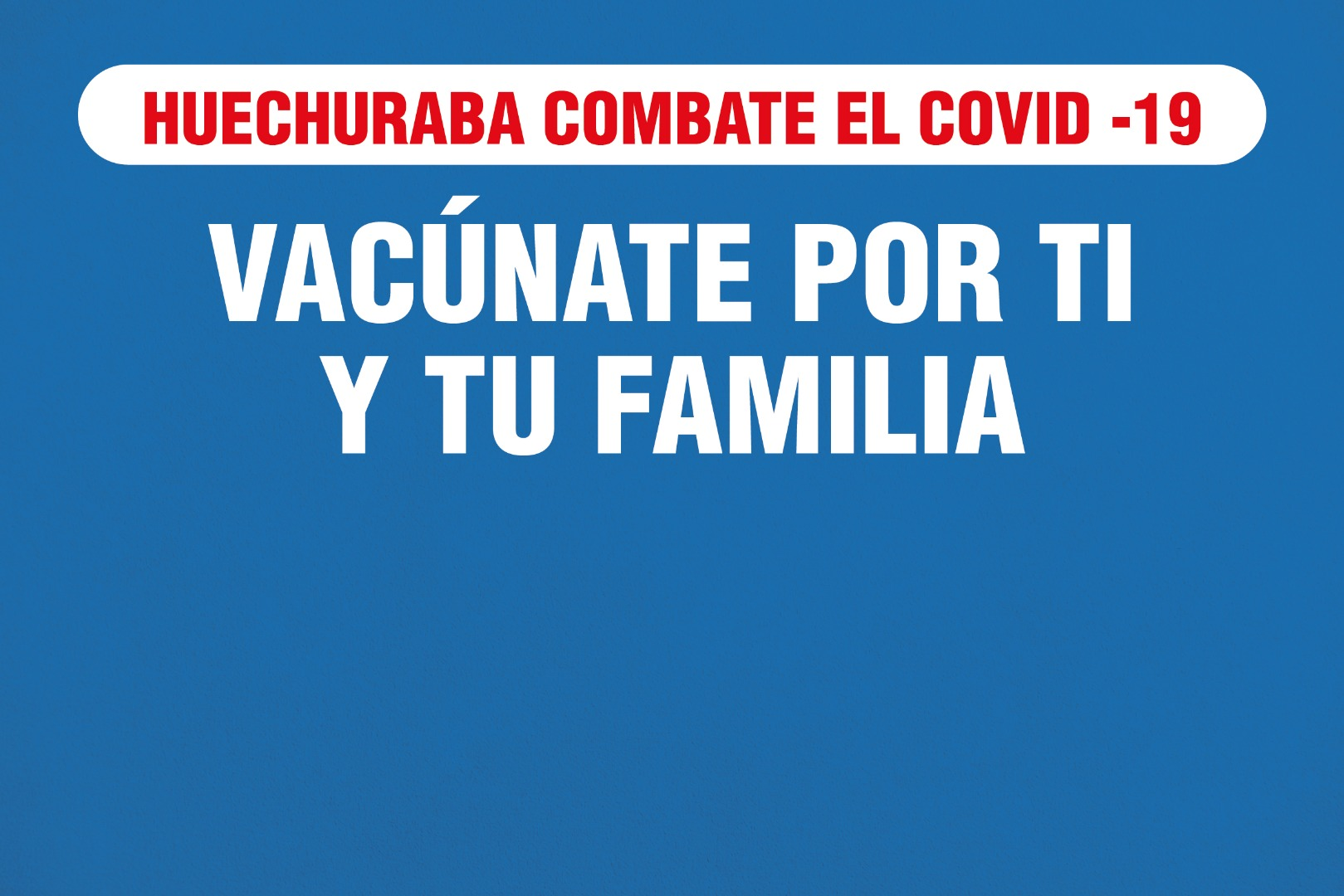 Huechuraba da a conocer nuevo calendario de vacunación contra el Covid-19